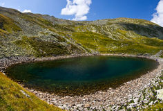 Iezer Glacier Lake - Panorama Stock Image