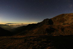 Iezer Mountains at night. Royalty Free Stock Photo