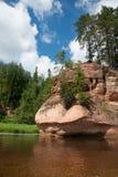 Iezis di Zvartes della roccia fotografia stock