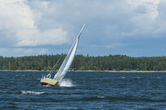 IF-boat in a breeze Royalty Free Stock Photos