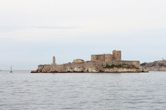 If Castle upon the rocks near frenche city of Marseille royalty free stock images
