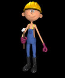 If I Had A Hammer. Cartoon workman who is holding a hammer Stock Photos