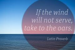 To oars proverb Stock Images