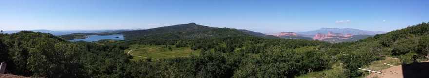 If You Could Hie to Kolob. A panorama of Kolob Royalty Free Stock Image