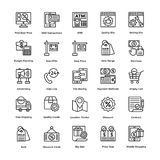 Shopping Vector Icons Set 7 Stock Photography