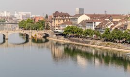 A week-end at Basel in Switzerland. If you are interested by architecture and history, quiet parks along Rhin River, Basel is a good place to visit Royalty Free Stock Photos