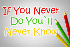 If You never Do You'll Never Know Concept vector illustration