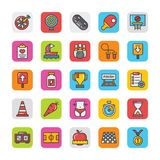 Sports and Games Flat Vector Icons Set 4 Royalty Free Stock Photos