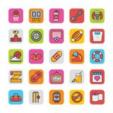 Sports and Games Flat Vector Icons Set 6 Royalty Free Stock Image