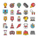 Sports and Games Flat Vector Icons Set 4 Royalty Free Stock Photography