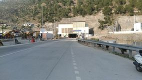 Chenani-Nashri Tunnel in jammu longest road tunnel in india stock photography