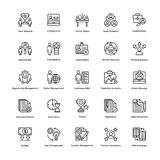 Project Management Line Vector Icons Set 4. If you were just about giving up and thinking of hiring a professional to create marvelous project management icons Stock Images