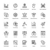Project Management Line Vector Icons Set 8 Royalty Free Stock Photography