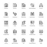 Project Management Line Vector Icons Set 21. If you were just about giving up and thinking of hiring a professional to create marvelous project management icons Royalty Free Stock Photos