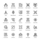 Project Management Line Vector Icons Set 5 Stock Photography