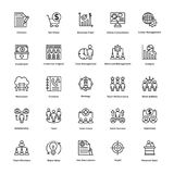 Project Management Line Vector Icons Set 6 Royalty Free Stock Image