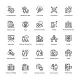 Project Management Line Vector Icons Set 13 Royalty Free Stock Image