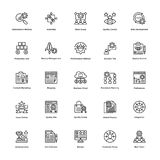 Project Management Line Vector Icons Set 23 Stock Photography