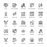 Project Management Line Vector Icons Set 16 Stock Image