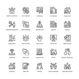 Project Management Line Vector Icons Set 7 Stock Photos