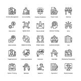 Project Management Line Vector Icons Set 19 Stock Image