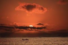 ifaty zachód słońca na plaży Obrazy Royalty Free