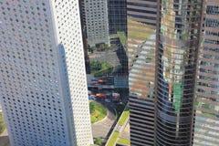 IFC的香港,中国视图 库存图片