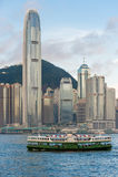 IFC budynek z ferryboat Obrazy Royalty Free