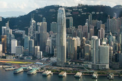 IFC building ferry port. View from SKY100 Stock Images