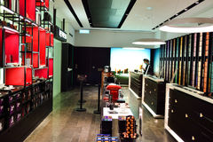 IFC Mall. HONG KONG - MAY 5, 2015: interior of Nespresso store. Nespresso is the brand name of Nestle Nespresso S.A., an operating unit of the Nestle Group. The Stock Photos