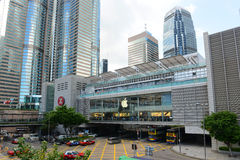 IFC Mall and IFC1 building, Hong Kong Island. Hong Kong One International Finance Centre (IFC1) building, IFC Mall and Central Metro Station in the Hong Kong Royalty Free Stock Photo