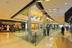 Ifc shopping mall, hong kong. Interconnecting walkways of ifc shopping mall, a prominent landmark located at central, hong kong island Stock Images