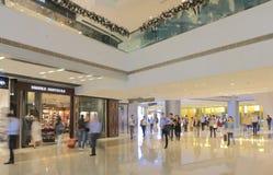 IFC shopping mall Hong Kong. People visit IFC shopping mall in Hong Kong Royalty Free Stock Photo