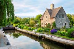 Iffley Lock. Oxford,  England. Iffley Lock on the River Thames. Oxford, Oxfordshire, England Stock Photo