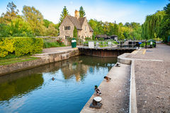 Iffley Lock. Oxford,  England Royalty Free Stock Photo
