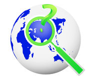ifrågasätter det resande begreppet för det globala sökandet med markerar Arkivbilder