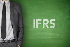 IFRS on blackboard Stock Photos