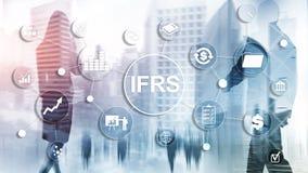 IFRS sprawozdawczo?ci finansowej standard?w przepisu Mi?dzynarodowy instrument zdjęcia stock