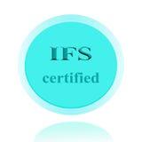 IFS bestätigte Ikonen- oder Symbolbildkonzeptdesign mit Geschäft Stockfotografie