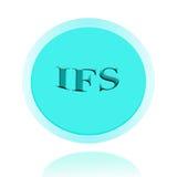 Ifs-Ikonen- oder Symbolbildkonzeptdesign mit Geschäftsfrauen für Stockbild
