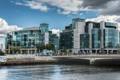IFSC House, International Financial Service Center in Dublin, Ir Stock Photo