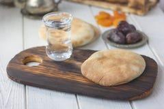 Iftar bread food Stock Image
