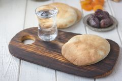 Iftar bread food Stock Photos