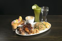 Iftar Food platter for Ramadan month royalty free stock photography