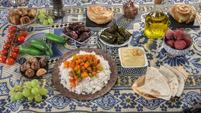 Ifthar evening meal. For Ramadan stock images