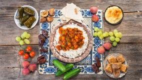 Ifthar evening meal. For Ramadan stock photography