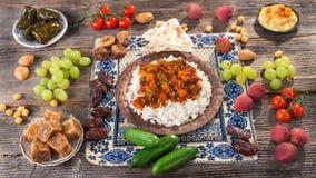 Ifthar evening meal. For Ramadan royalty free stock photo