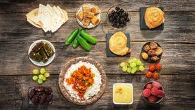 Ifthar evening meal. For Ramadan stock image