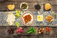 Ifthar evening meal. For Ramadan stock photo