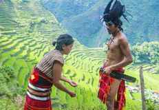 Ifugao ethnic minority in the Philippines. BANAUE, PHILIPPINES - MAY 02 : People from Ifugao Minority in Banaue the Philippines on May 02 2018. The Ifugao Royalty Free Stock Photos
